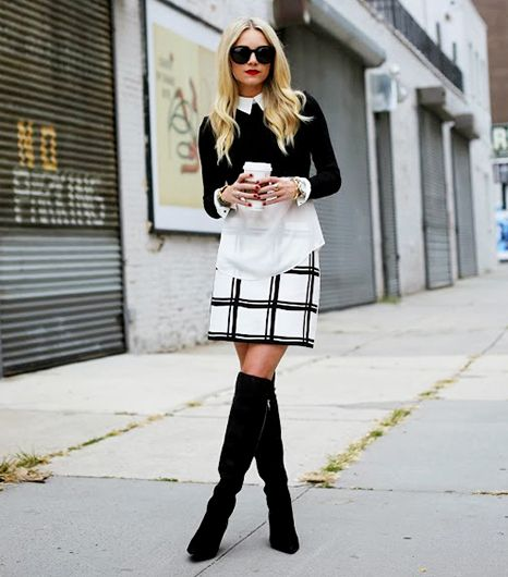Atlantic-Pacific blogger looking 60s chic in black and white. #fashion #streetstyle