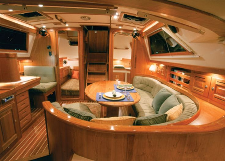 Perfect Beautiful Interior   Probably A Bit Bigger Than Iu0027ll End Up With, But  Beautiful. | A Sailboat Liveaboard | Pinterest | Boat Interior, Boats And  Sailboats