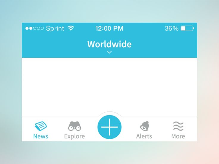 Here's some navigation elements for an app I'm currently working on.