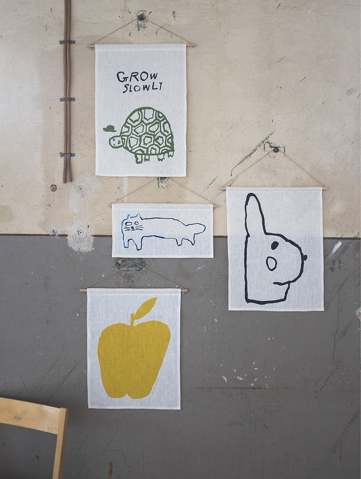 Wall hangings by Mogu Takahashi for Fine Little Day, Limited Edition.