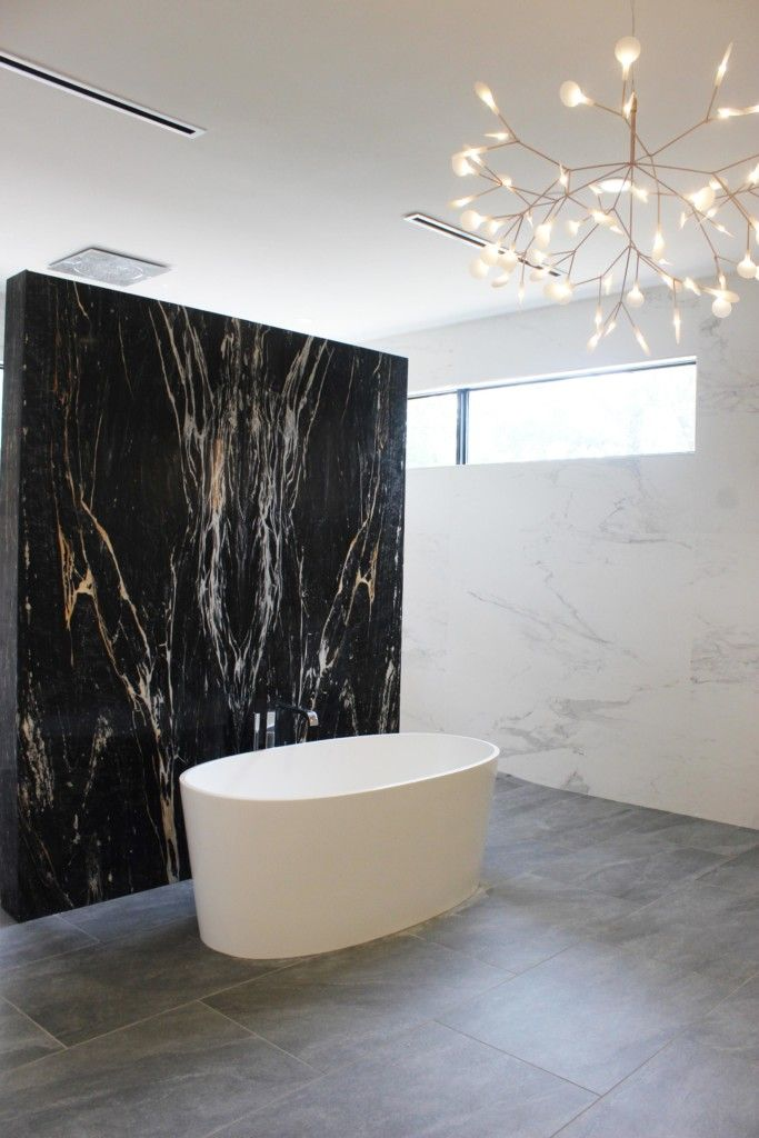 Zebrino Black And Gold Marble Bathroom Feature Wall Aria Stone Gallery