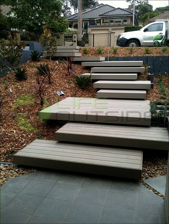 1000+ ideas about Outside Stairs on Pinterest | Stairs, External ... (Composite Patio Step)