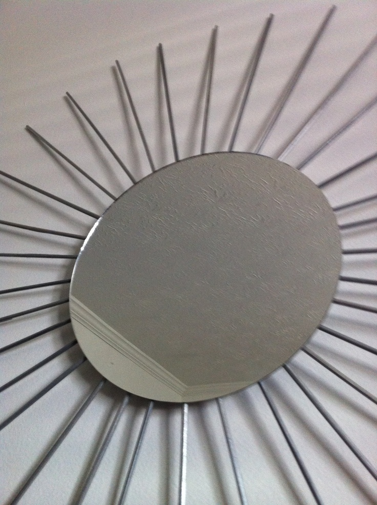 DIY Under $10: Skewer Mirror | Diy skewer, Sunburst mirror ...