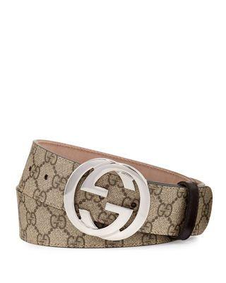 d4221785290 Gucci GG Supreme Belt w Interlocking G