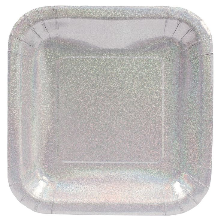 Celebrate the holiday season by serving your party meals and appetizers on these Glitz Silver Dinner Plates. This prismatic plate features a deep dish build that is ideal for a full meal service and its elegant silver color makes it the perfect choice for holiday festivities such as Christmas, New Year's, anniversaries and more! These square plates come in packages of 8 and are sturdy enough to hold heartier meals with ease.