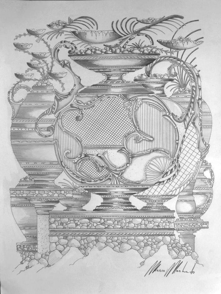 Desenhos à Lápis Sobre Papéis Acácia Tela e Casca de Ovo.: Desenhos à Lápis.