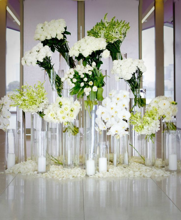 Great for a sofa table  or foyer table Jeff leatham inspired flowers