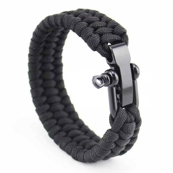 Outdoor Camping Rescue Paracord Bracelet Men Survival Parachute