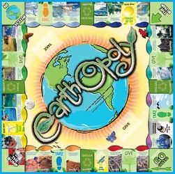 Earthopoly is a game celebrating Earth, one turn at a time! Players become the caretakers of wondrous locations around the planet then increase their property value by collecting Carbon Credits and trading them in for Clean Air. AAHHHH! Its all fun and games until someone gets sent to the Dump! So choose your token, (all made by nature of course!), and advance to Go Green. EARTHOPOLY ROCKS! WANNA PLAY?