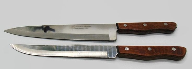 "Maxam Japan Stainless With Wood Handles 9"" Chef and 8"" Carving Knife Set #Maxam"
