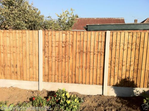 Fencing supplied and fitted fence panels concrete posts gravel boards concrete posts - Concrete fence models design ...