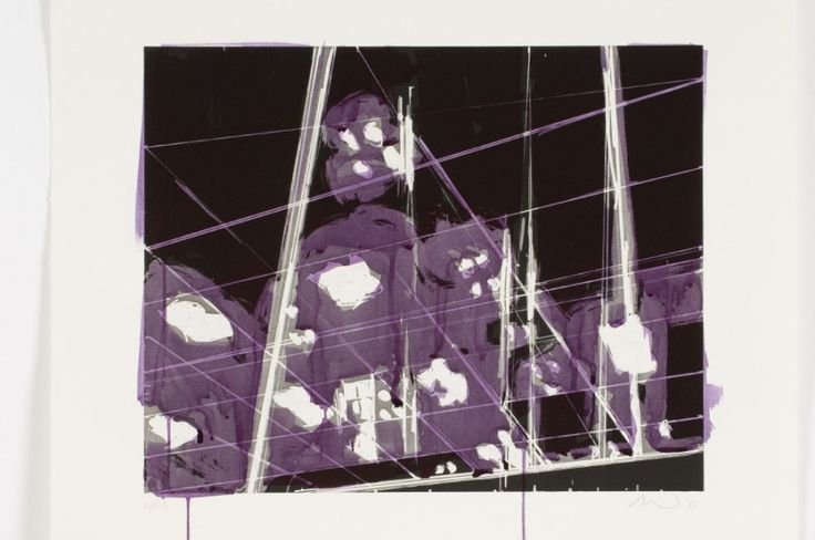 Spots 14 (2011). Aquatint and  Hand-Painting