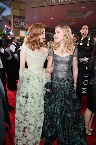 Madonna, Meryl Streep at Moet and Chandon Bar at Golden Globe Awards: Golden Globe Award, S'More Bar, Dresses, Gowns, Chandon Bar, Crosses, 69Th Golden, Awards Celebrity, Golden Globes Awards
