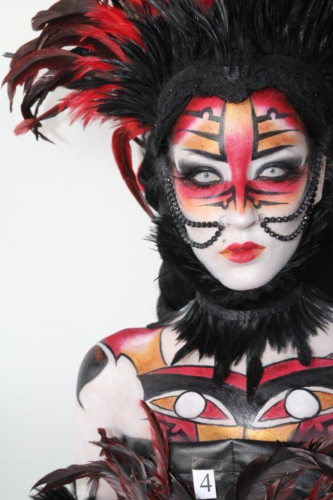 First-place make-up by Miia Ollula for the IMATS Toronto 2011