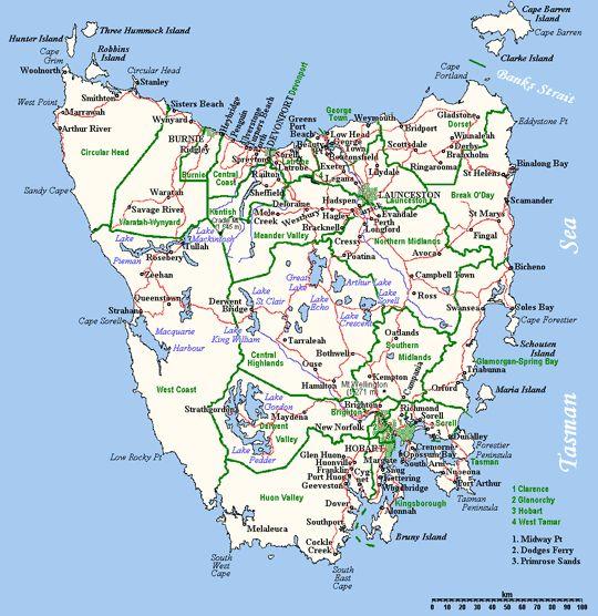 devonport to west kentish(40 mins). onto cradle mountain(50 mins). onto Hobart(2.2hrs). onto port arthur(120min). onto eagle hawk neck(15mins). onto coles bay/bicheno(2.2hrs). onto st helens(1hr) onto launceston(2hrs)