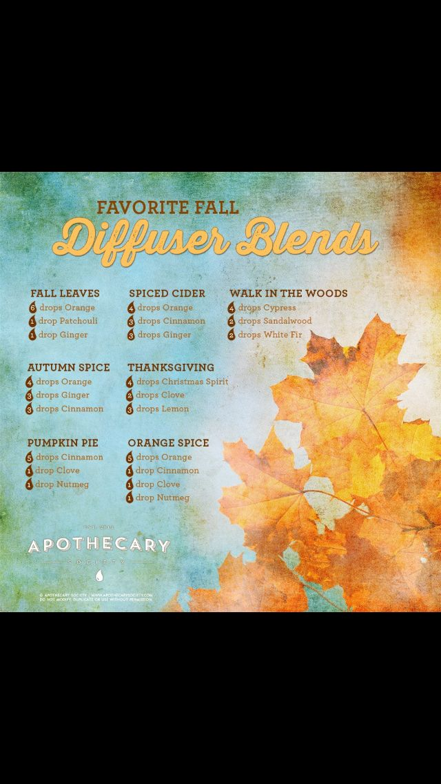 What to diffuse in the fall. | essential oils | Pinterest ...