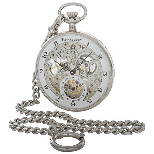 Best price on Steinhausen Men's Skeleton Pocket Watch PG300S,Silver,US  See details here: http://bestbrandsreport.com/product/steinhausen-mens-skeleton-pocket-watch-pg300ssilverus/    Truly a bargain for the new Steinhausen Men's Skeleton Pocket Watch PG300S,Silver,US! Look at at this low cost item, read customers' feedback on Steinhausen Men's Skeleton Pocket Watch PG300S,Silver,US, and buy it online with no hesitation!  Check the price and Customers' Reviews…