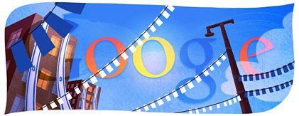 Google's Logo  -- Israel Independence Day