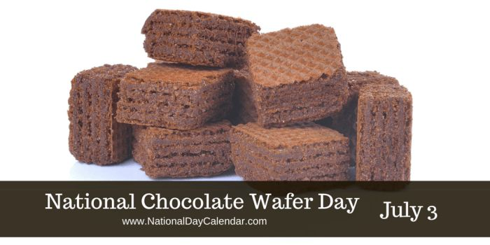 Crispy, creamy and waffle wonderful... these wafers are always a treat around the home. #ChocolateWaferDay