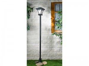 Lampa ogrodowa solarna LED, z masztem o wysokości 166 cm!  #lampa #solar #ogród