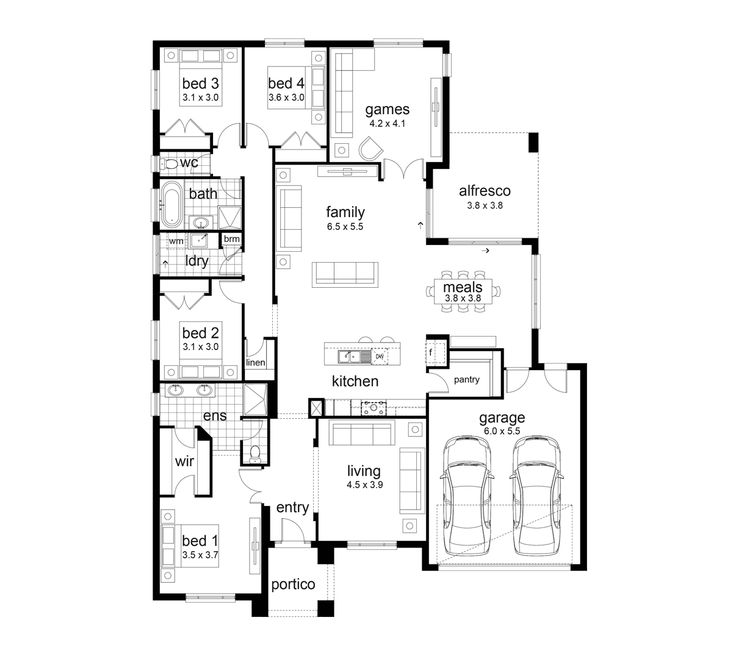 Best floor plans for family homes for Family home floor plans