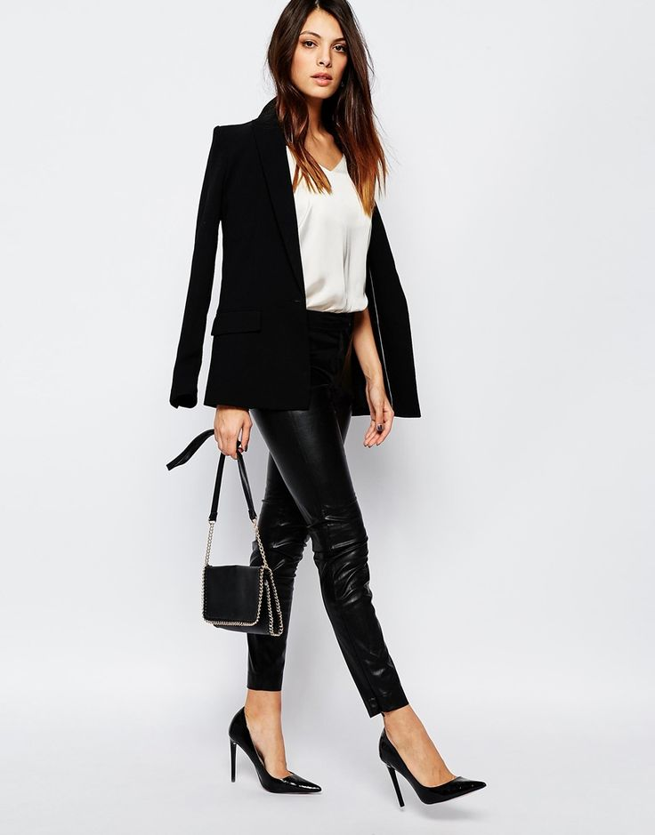 Image 1 ofFrench Connection Atlantic Leggings In Faux Leather