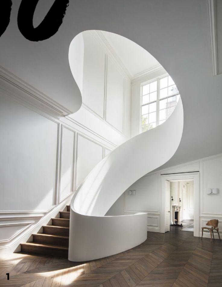 Contemporary Curvy Staircase Design