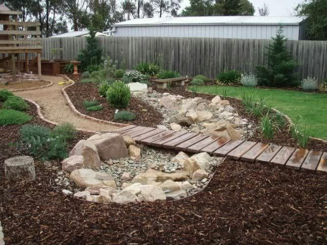 Dry Creek Bed For Yard on Pinterest