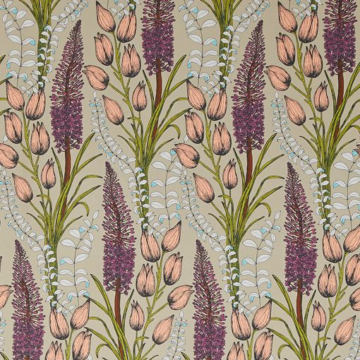Foxtail Lily Taupe Wallpaper | Abigail Borg
