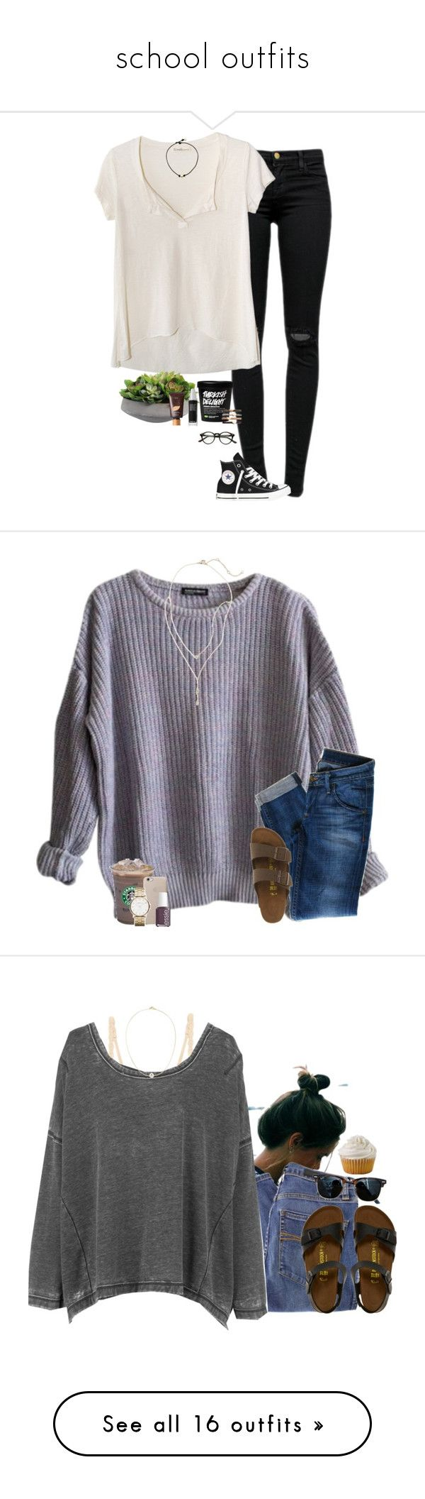 """""""school outfits"""" by southerngirl03 ❤ liked on Polyvore featuring J Brand, Fresh Laundry, Converse, tarte, Make, Madewell, American Apparel, Hudson Jeans, Birkenstock and BP."""