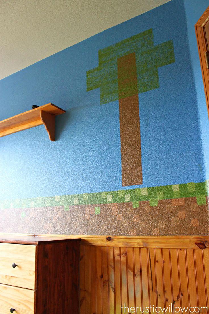 Bathroom mural ideas - Minecraft Room 18