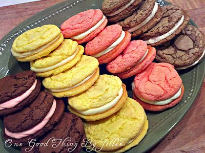 Cake Box Sandwich CookiesCake Cookies, Boxes Sandwiches, Good Things, Sandwiches Cookies, 3 Ingredients, Cake Boxes, Cake Mixed Cookies, Cookies Sandwiches, Sandwich Cookies