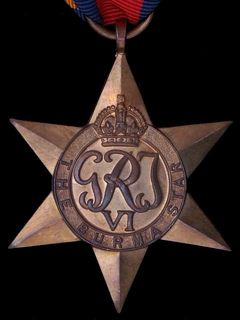 The Burma Star, WWII British Campaign Medal.