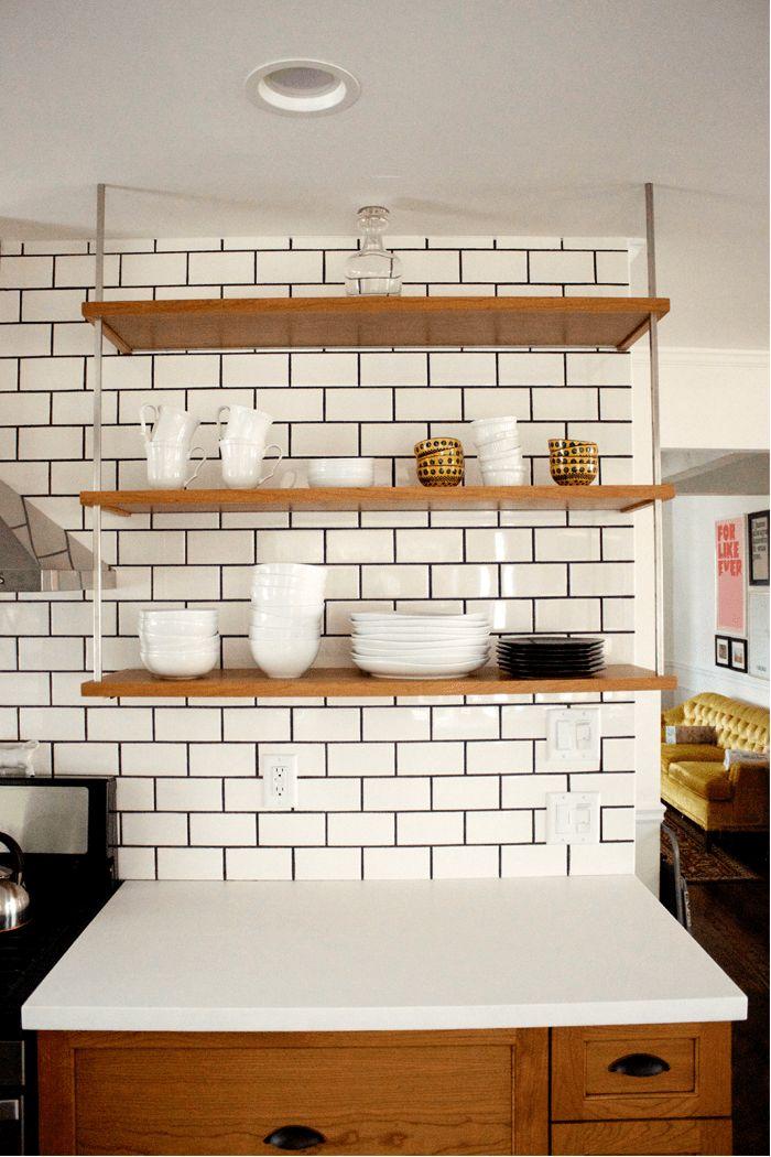 Black And White Subway Tiles Kitchen Designs (3