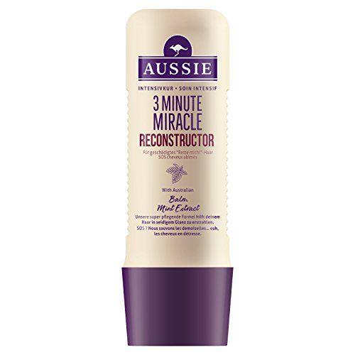 Aussie 3 Minute Miracle Reconstructor Soin Intensif pour Cheveux Abîmés 250 ml: Il transforme les cheveux secs et abîmés en mèches…