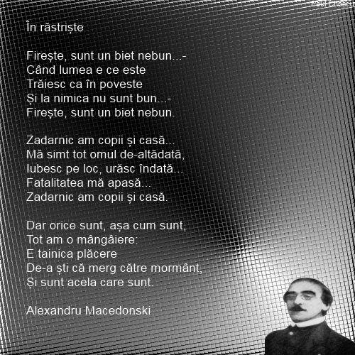 In rastriste -Alexandru Macedonski