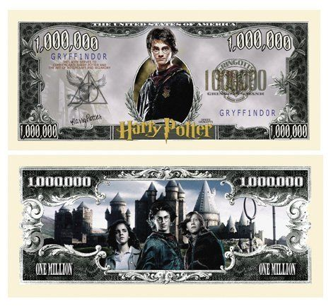 Set of 50 - Harry Potter Million Dollar Bill @ niftywarehouse.com #NiftyWarehouse #Geek #Gifts #Collectibles #Entertainment #Merch