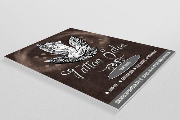 Tattoo Salon Flyer by Prity's World on Creative Market