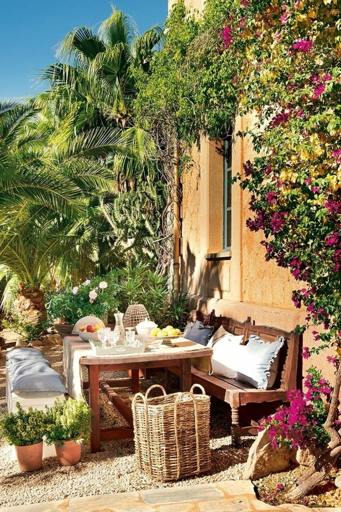 die 25 besten mediterraner garten ideen auf pinterest mediterrane gartengestaltung. Black Bedroom Furniture Sets. Home Design Ideas
