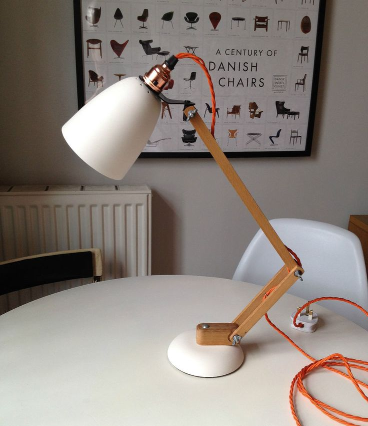 1960s Vintage desk lamp Wooden Arm MACLAMP by TERENCE CONRAN EAMES STILNOVO