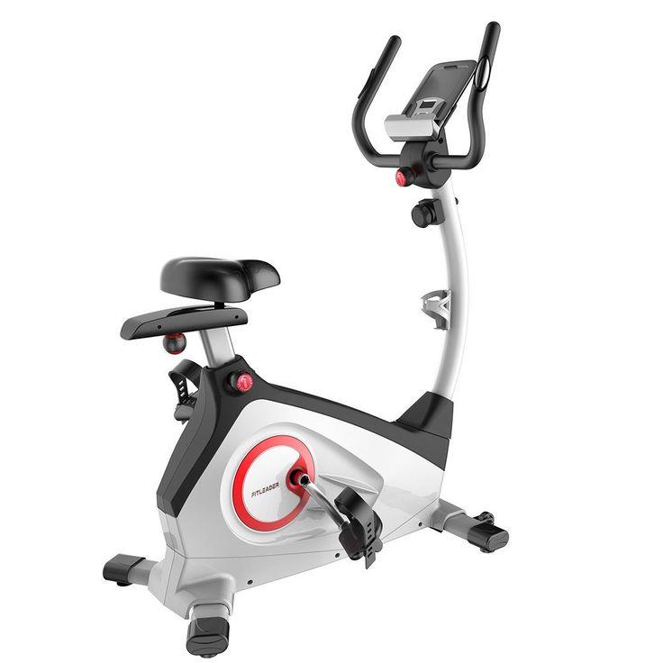 Fitleader Indoor Upright Bike Exercise Magnetic Stationary Cycie Belt 15-pound Flywheel