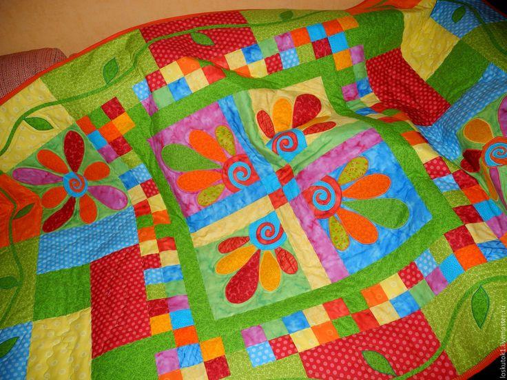 Купить детское лоскутное покрывало МОНПАНСЬЕ 2 покрывало детское - детское лоскутное, лоскутное покрывало