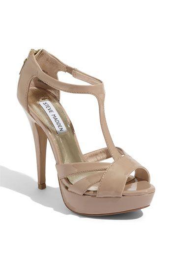 nude steve madden platform sandal