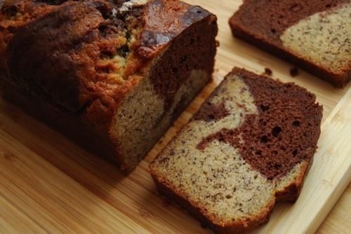Chocolate Marble Banana Bread at SweetSundayMornings.com