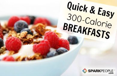 Quick 300-Calorie Breakfast Ideas | via @SparkPeople #recipe #food #healthy