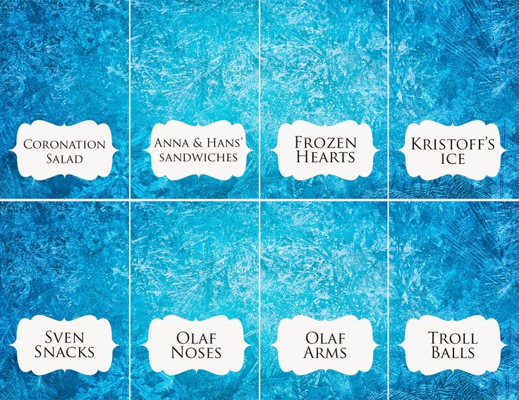 Disney Frozen food place card olaf noses sven snacks