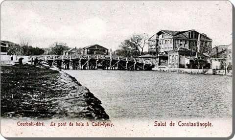 Kadıköy, Kurbağalıdere. Courbali dere, Le point de bois Cadi-keuy.