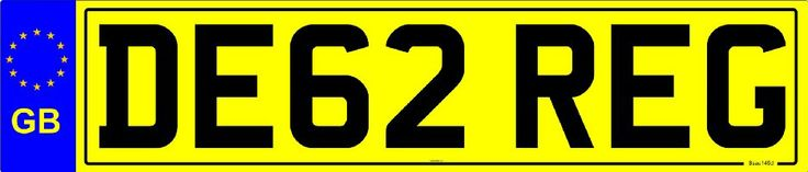GB NUMBER PLATE (STD CAR REAR):Amazon.co.uk:Car & Motorbike