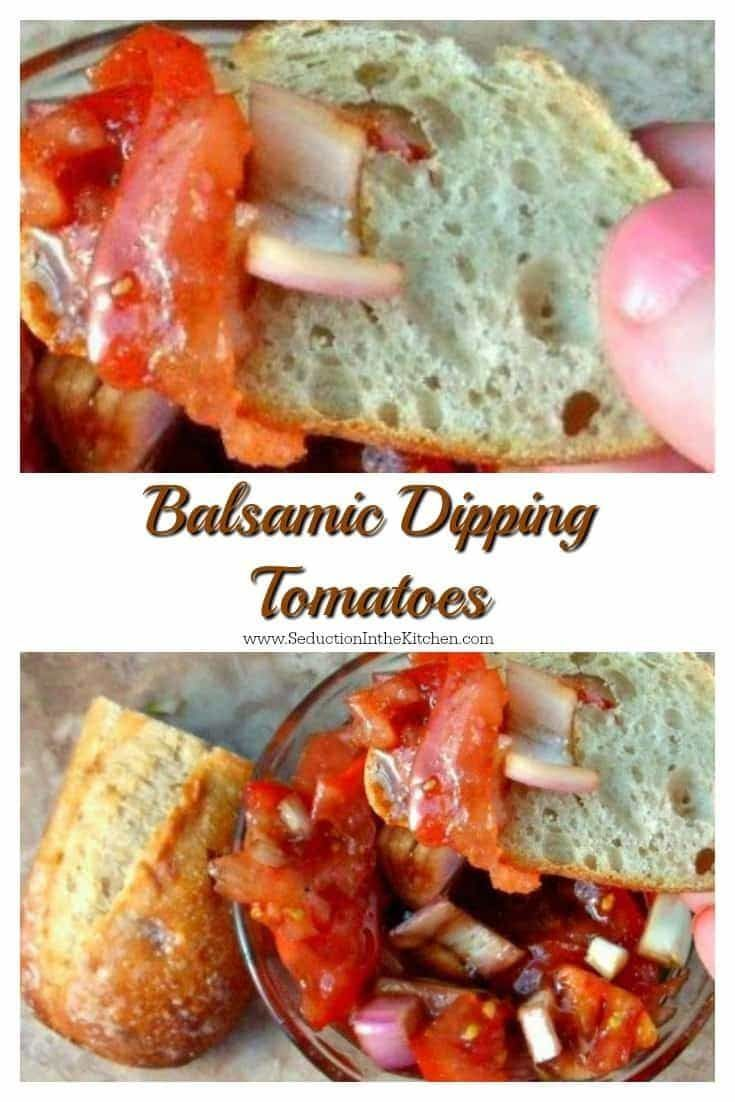#Balsamic Dipping #Tomatoes are light, tasty, and refreshing. This recipe is best to describe as#bruschetta #salsa It is so addicting that you want to make it often. via @SeductionRecipe