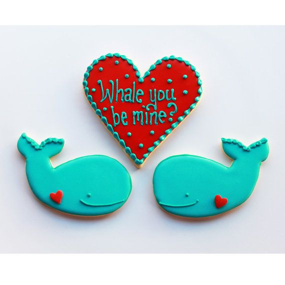 Whale You Be Mine Valentine Gift Box MADE TO by whippedbakeshop